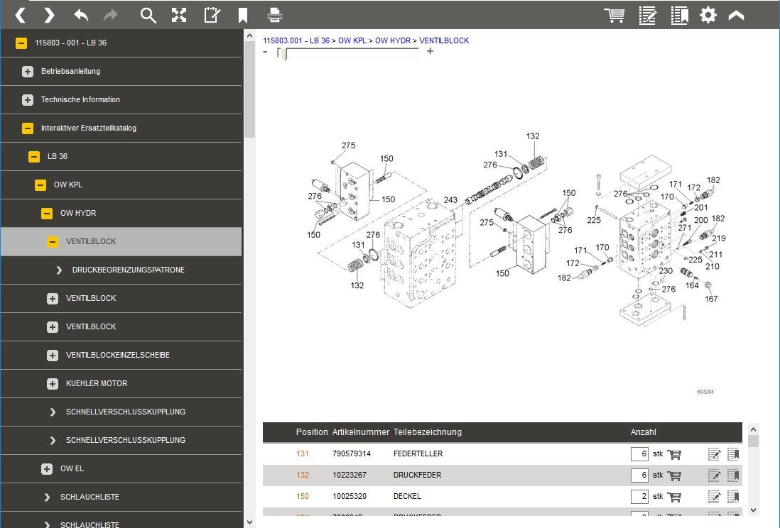 EasyBrowse CDP: Service Information System > Spare Parts Catalogue