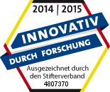 "2014/2015 Ovidius GmbH was awarded the ""Innovative through Research"" seal of approval by the Stifterverband for research-based companies"