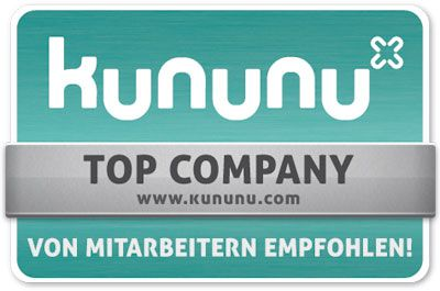 "gds has qualified as a company for the ""TOP COMPANY"" seal from kununu"